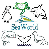 Sea World Applique Design Set