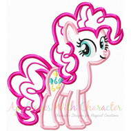 Pinkie Pie Pony Applique Design