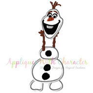 Olaf Holding Head Applique Design