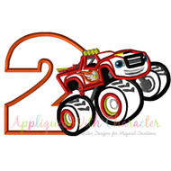 Blaze Monster Truck Two Applique Design