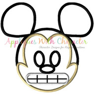 Mickey Emoji Applique Design