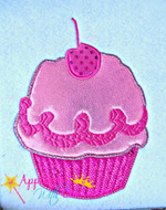 Pink Girl Cupcake Applique Design
