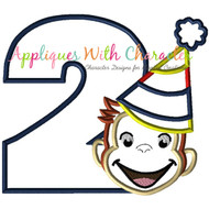 Curious George Two Boy Applique Design
