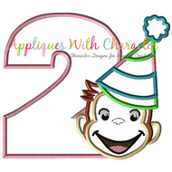 Curious George Two Girl Applique Design
