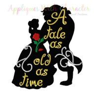 Bella Tale As Old As Time Silhouette Design