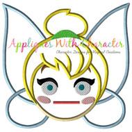 Tinkerbell Emoji Applique Design