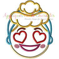 Cinderella Emoji Applique Design