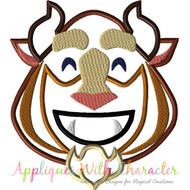 Beast Emoji Applique Design