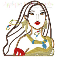 Pocahontas Bust Applique Design