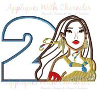 Pocahontas Two Applique Design