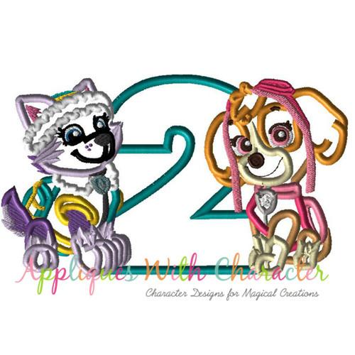 Paw Patrol Birthday Embroidery Design