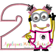 Minion Girl Two Applique Design