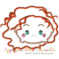 Merida Tsum Tsum Applique Design
