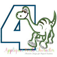 Arlo Good Dinosaur Four Applique Design