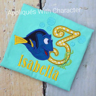 Dory Three Applique Design
