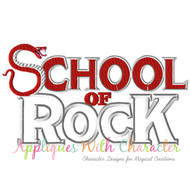 School Of Rock Applique Design