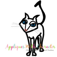 Coraline Black Cat Applique Design