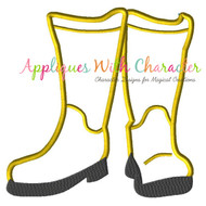 Coraline Boots Applique Design
