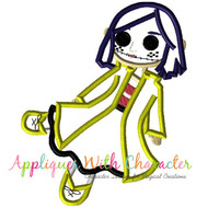 Coraline Doll Applique Design