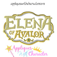 Elena Of Avalor Logo Applique Design
