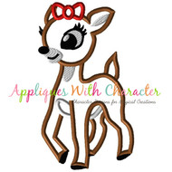 Rudolph Clarice Reindeer Applique Design