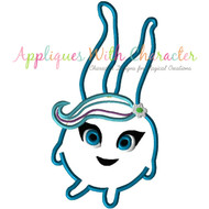 Sunny Bunny Blue Applique Design