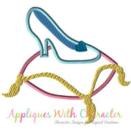 Cinderella Glass Slipper Applique Design