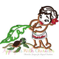 Baby Moana  Applique Design