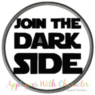 Star Wars Join The Dark Side Applique Design