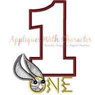 Harry Potter One Applique Design