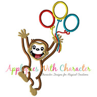 Curious George Balloons Applique Design