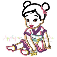 Baby Mulan Applique Design