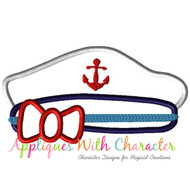 Cruise Hat Girl Applique Design