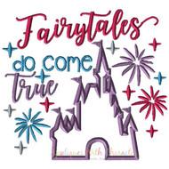 Disney Inspired Fairytales Do Come True Castle Applique Design