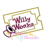 Wonka Golden Ticket Applique Design