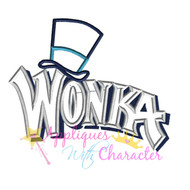 Wonka Logo  Applique Design
