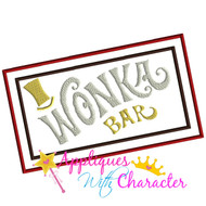 Wonka Bar Applique Design