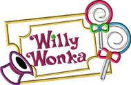 Wonka Golden Ticket Lollipop Applique Design