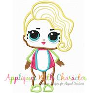 LOL Surfer Babe Doll Applique Design