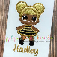LOL Glitter Doll Applique Design
