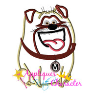Pets Movie Mel Pug Applique Design