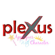 Copy of Plexus Logo Filled X Applique Design