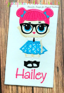 LOL Teacher's Pet Doll Applique Design