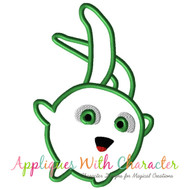 Sunny Bunny Green Applique Design