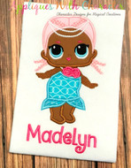 LOL Mermaid Doll Applique Design