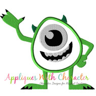 Monster Mike Applique Design