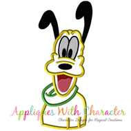 Pluto Bust Applique Design
