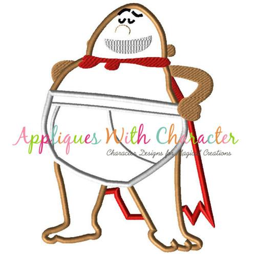 Character Applique Design : Captain underpants applique design by appliques with character