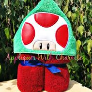 Mushroom Peeker Applique Design