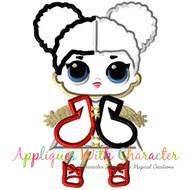 LOL Heart Queen Applique Design